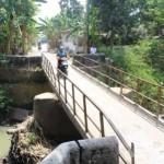 INFRASTRUKTUR KLATEN : Rawan Memicu Banjir, Jembatan Kali Blora Jetis Butuh Segera Diperbaiki