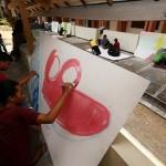 Kompetisi Mural di Solo Diminati Banyak Mahasiswa