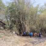 KEBAKARAN KARANGANYAR : Kobaran Api di Lahan Tebu Nyaris Merembet ke Permukiman, Warga Kalijirak Panik