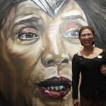 KISAH UNIK: Lihat Mural Wajahnya di Solo, Menteri Susi: Kok Mau-Maunya Bikin Gambar Saya