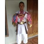 Siswi SMP Wonogiri Ini bakal Wakili Indonesia di Kejuaraan Karate Luksemburg