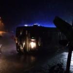 KECELAKAAN BOYOLALI : Bus Terguling Timpa Sepeda Motor, Pengendara Selamat
