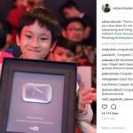 Congrats! Azka Corbuzier Raih Penghargaan dari Youtube