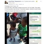 Dua balita ditemukan bingung di trotoar (Facebook)