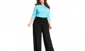 Ilustrasi tampil stylish dengan kulot untuk wanita gemuk (Pinterest)