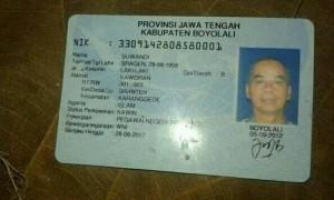 Suwandi,ditemukan tak bernyawa di Kedung Kancil, Sragen, Kamis (31/8/2017) malam. (Facebook-Pras Tyo)
