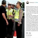 Polantas memberhentikan pengemudi mobil yang mengumpat kepada petugas (Instagram)