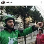 Salah satu postingan akun @ojekbule (Instagram)