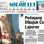 SOLOPOS HARI INI : Soloraya Hari Ini: Pedagang Pasar Klewer Dibujuk Cabut Laporan