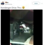 Video unik yang disebut-sebut sebagai Kondangan Drive-thru (Twitter)