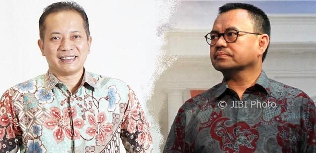 Wakil Ketua Umum DPP Partai Gerindra Ferry Juliantono dan Mantan Menteri Energi dan Sumber Daya Mineral Sudirman Said. (twitter.com-Dwi Prasetya/JIBI/Bisnis)