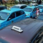 TRANSPORTASI SOLO : Dishub Gandeng Satlantas Razia Taksi Online Berpelat Hitam