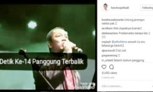 Potongan video yang digunakan Hendi untuk mengimbau warganet waspada terhadap bencana. (Instagram-@hendrarprihadi)