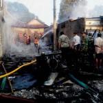 KEBAKARAN GUNUNGKIDUL : Deretan Kios Depan Pasar Semin Terbakar, Pedagang Rugi Ratusan Juta