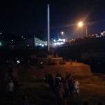 Begini Suasana Malam 1 Sura di Tugu Suharto
