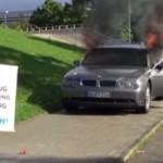 Kecewa Berat, Pria Ini Bakar Mobil Rp1,7 Miliar di Depan Markas BMW
