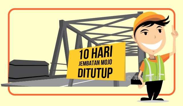 Jembatan Mojo akan ditutup selama 10 hari dan lalu lintas dialihkan ke Palur atau Grogol. (Whisnu Paksa/JIBI/Solopos)