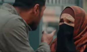Adegan Hulusi membentak Sabina di video klip Ayat Ayat Cinta 2 (Youtube)