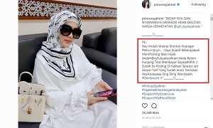 Cara Syahrini menagih bayaran endorse kepada adiknya (Instagram @princessyahrini)