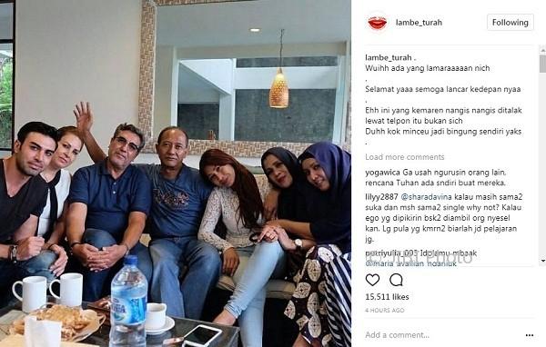 Foto keluarga Tata Janeeta dan Mehdi Zati (Instagram @lambe_turah)