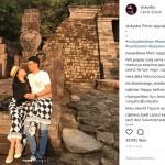 INSTAGRAM ARTIS : Vicky Shu dan Ade Imam Liburan Romantis ke Candi Sukuh