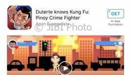 Game Duterte di Apple Store. (Istimewa/Apple.com)