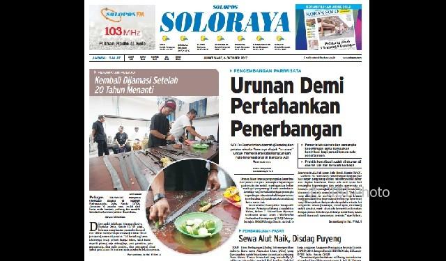 Halaman Soloraya Harian Umum Solopos edisi Kamis, 6 Oktober 2017
