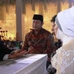 FOTO PAMERAN SEMARANG : Hendi Jadi Saksi Nikah di Wedding Expo