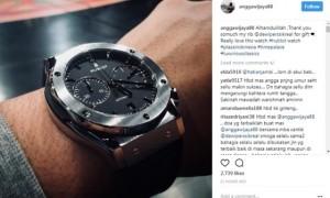 Jam tangan mewah dari Depe untuk Angga Wijaya (Instagram @anggawijaya88)