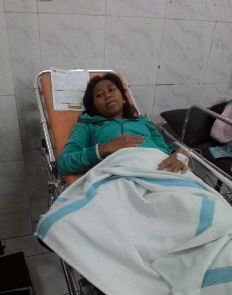 Salah seorang korban keracunan massal dirawat di RS PKU Muhammadiyah, Bantul, Senin (2/10/2017). (Istimewa)