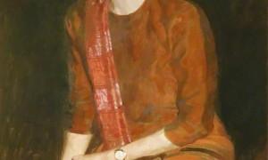 Lukisan Aung San Suu Kyi di Oxford University (Telegraph.co.uk)