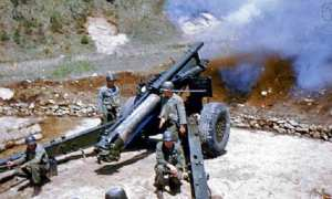 Pasukan Amerika Serikat (AS) yang berada di kubu pasukan PBB terlibat dalam pertempuran di Bukit Segitiga melawan pasukan Tiongkok, 1952. (Wikimedia.org)