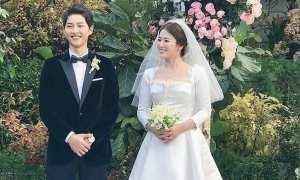 Penampilan Song Joong Ki dan Song Hye Kyo di hari pernikahan (Twitter)