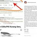 "Nikita Mirzani Klarifikasi Kontroversi Cuitan ""G 30S/PKI dan Panglima Gatot"""