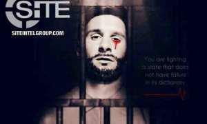 Poster Messi menangis darah sebagai ancaman ISIS untuk Piala Dunia 2018 (Twitter)