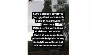 Snapgram Warganet tentang curhatan si tukang koran (Instagram)