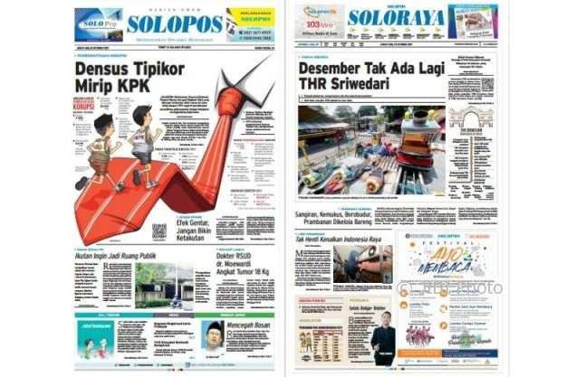 Solopos hari ini edisi Jumat 13 Oktober 2017.