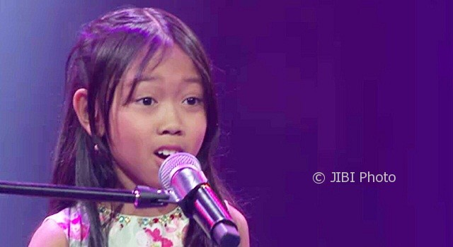 Stefany Raffelia alias Fany, peserta The Voice Kids Indonesia asal Kota Salatiga, Jateng. (Instagram-@thevoicekids.globaltv)