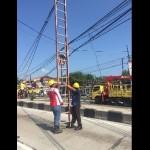 Tiang Listrik Pertigaan Mlese Patah, Jl. Klaten-Solo Macet