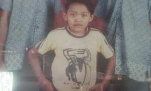 Foto Ganag saat masih kecil sudah memiliki perut besar. (Liputan6.com/Felek Wahyu)