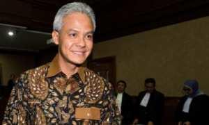 Gubernur Jateng Ganjar Pranowo seusai bersaksi dalam sidang lanjutan kasus korupsi e-KTP di Pengadilan Tipikor, Jakarta, Jumat (13/10/2017). (JIBI/Solopos/Antara/Rosa Panggabean)