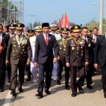 Soal Jalan Kaki Menuju Lokasi Upacara HUT TNI, Begini Kata Jokowi