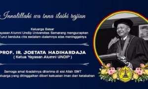 Ucapan duka cita dari pihak USM atas meninggalnya Prof. Joetata Hadihardaja. (Usm.ac.id)