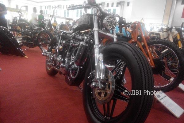 Salah satu motor yang dipamerkan dala Kustomfest 2017, Sabtu (7/102017). (I Ketut Sawitra Mustika/JIBI/Harian Jogja)