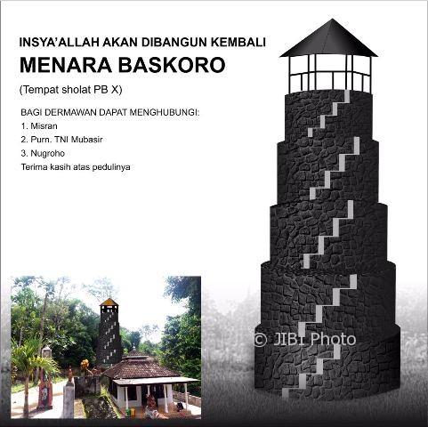 Gambar rencana pembangunan Menara Baskoro di Klaten. (Istimewa)