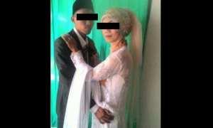 Foto Pernikahan Muhammad Fadholi (kiri) dan Ayu Astuti (kanan). (Istimewa/Facebook)