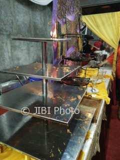 Makanan untuk para tamu midodareni Kahiyang ludes. (Noer Atmaja/JIBI/SoloposFM)