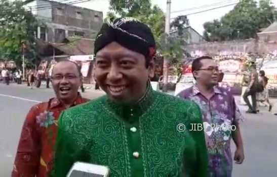 Ketua Umum PPP Romahurmuziy menghadiri pernikahan Kahiyang-Bobby di Solo, Rabu (8/11/2017). (Indah Septiyaning W./JIBI/Solopos)
