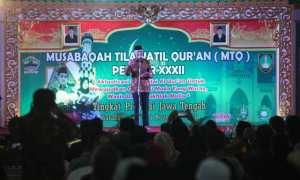 Gubernur Jateng, Ganjar Pranowo, membuka MTQ di Balai Kota Solo, Rabu (15/11/2017). (M. Feri Setiawan/JIBI/Solopos)