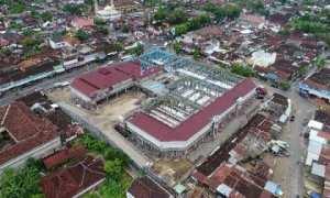 Pasar Ir. Soekarno Baturetno, Wonogiri, tampak dari atas hampir selesai pembangunannya, Selasa (21/11/2017). (Istimewa/Humas Pemkab Wonogiri)